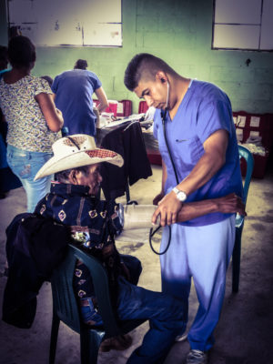 Local physicians on voluntourism medical brigade